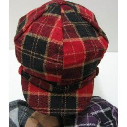 144 Units of Ladies Newsboy HaT-Buffalo Plaid - Winter Hats