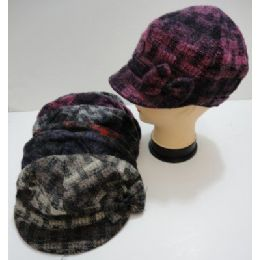 60 Units of Ladies Plaid Cap with Bow - Fashion Winter Hats