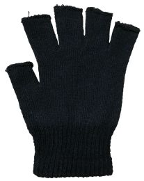 36 Units of Black Fingerless Magic Glove Unisex - One Size Fits All - Knitted Stretch Gloves