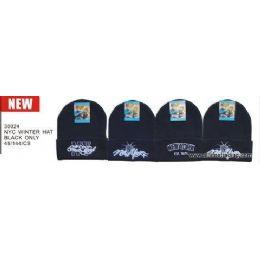 48 Units of Nyc Logo Winter Hats - Winter Beanie Hats