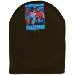 144 Units of Unisex Winter Ski Hat Black Only - Winter Beanie Hats