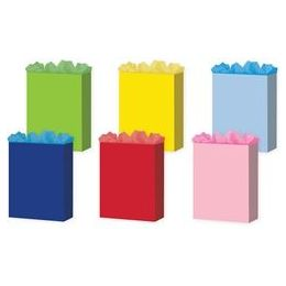 "72 Units of  Solid Colors 6 Asst. X-Jumbo 16"" x 19.25"" x 7.5"" - Gift Bags Assorted"