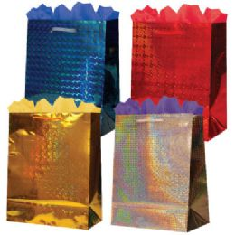 288 Units of GifT-Bag Medium Hologram 4 Colors - Gift Bags Hologram