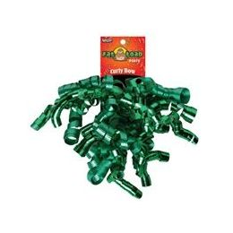 192 Units of Curled Ribbon Bow - Emeralds, Pegable Single - Bows & Ribbons