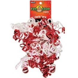 192 Units of Curled Ribbon Bow - Red / White, Pegable Single - Bows & Ribbons