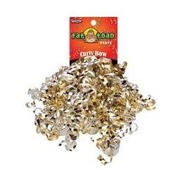 192 Units of Curled Ribbon Bow - Silver / Gold, Pegable Single - Bows & Ribbons