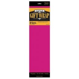 "144 Units of Tissue Paper Hot Pink - 10 Sheets per Pack, 20"" x 26"" Sheets - Gift Wrap"