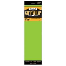 """144 Units of Tissue Paper Lime Green - 10 Sheets per Pack, 20"""" x 26"""" Sheets - Gift Wrap"""