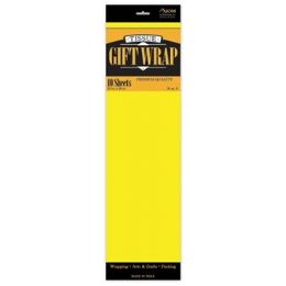 """144 Units of Tissue Paper Light Yellow - 10 Sheets per Pack, 20"""" x 26"""" Sheets - Gift Wrap"""