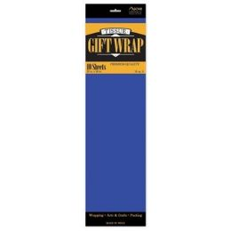 """144 Units of Tissue Paper Royal Blue - 10 Sheets per Pack, 20"""" x 26"""" Sheets - Gift Wrap"""