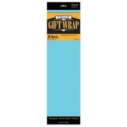 """144 Units of   Tissue Paper Light Blue - 10 Sheets per Pack, 20"""" x 26"""" Sheets - Gift Wrap"""