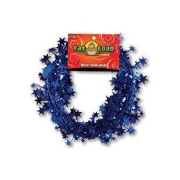288 Units of Wire Garland - Blue Stars - 25 Ft. - Bows & Ribbons
