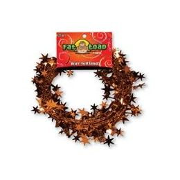 288 Units of Wire Garland - Orange Stars - 25 ft. - Bows & Ribbons