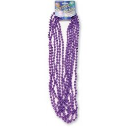 "120 Units of Festive Beads - 33"" Purple - 6 CT - Party Favors"