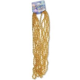 "120 Units of Festive Beads - 33"" Gold - 6 CT - Party Favors"