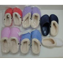 48 Units of Kids Fleece Lined Garden Shoes 1-6 - Girls Slippers