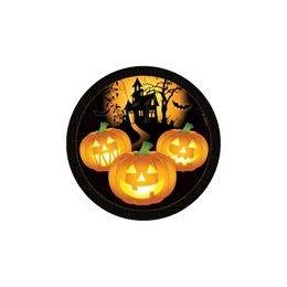 "144 Units of Haunted House 9"" Plate - 8ct. - Halloween & Thanksgiving"