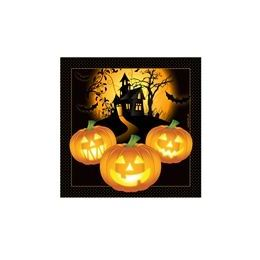 288 Units of Haunted House Beverage Napkins - 16ct. - Halloween & Thanksgiving