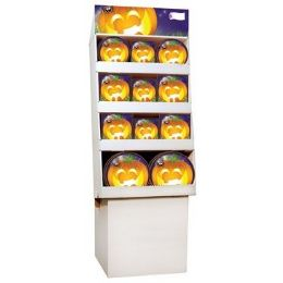 Pumpkin Grins PrE-Packed Floor Shipper, 156 Ct. - Halloween & Thanksgiving