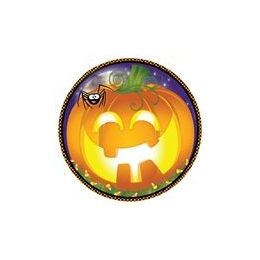 "72 Units of Pumpkin Grins 9"" Plate - 8ct. - Halloween & Thanksgiving"