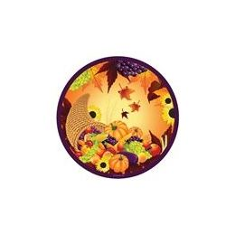 "72 Units of  Fall Harvest 9"" Plate - 8CT. - Halloween & Thanksgiving"