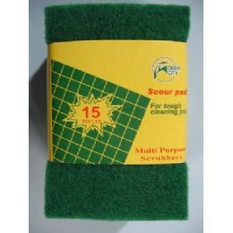 36 Units of 15pk Green Scrubbers - Scouring Pads & Sponges