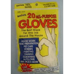 36 Units of 20pk All Purpose Latex Gloves [10prs] - Kitchen Gloves