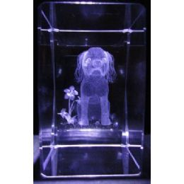 24 Units of 3D Laser Etched Crystal-Cocker Spaniel - Etched Crystal Figurines