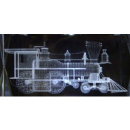 48 Units of 3D Laser Etched Crystal-Train - Etched Crystal Figurines