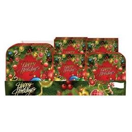 Holiday Wreath Pre-Packed Counter Shipper, 96 Ct.