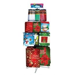 Christmas Gift Bags & Tissue Floor Shipper 162 Ct. - Christmas Gift Bags and Boxes