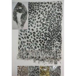 72 Units of Scarf with Fringe--Animal Print - Womens Fashion Scarves