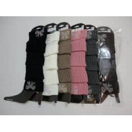 48 Units of Leg Warmers--Studded Bow - Arm & Leg Warmers