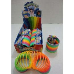 "36 Units of 4"" Diameter Rainbow Spring - Novelty Toys"