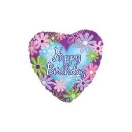 "100 Units of Mylar 18"" DS-Happy Birthday Twinkle Stars Heart"
