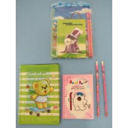 144 Units of 3pc Notebook & Pencil Set - Notebooks