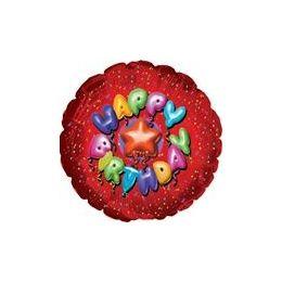 """100 Units of Mylar 18"""" DS-Birthday Balloon Type Red - Balloons/Balloon Holder"""