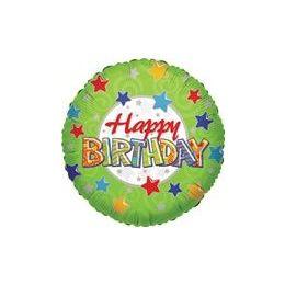 """100 Units of Mylar 18"""" DS - Happy Birthday w/Patterns"""