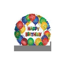 "100 Units of Mylar 18"" DS - Happy Birthday Pattered Balloons"