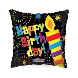 "100 Units of Mylar 18"" DS - Birthday Big Candle"