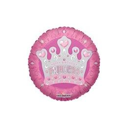 "100 Units of Mylar 18"" DS - Happy Birthday Princess Tiara - Balloons/Balloon Holder"