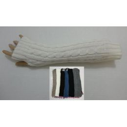 84 Units of Arm Warmer--Solid Color Knit - Arm & Leg Warmers