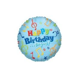 """100 Units of Mylar 18"""" VLU DS - Birthday Happy B-Day to You - Balloons/Balloon Holder"""