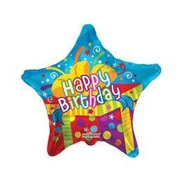"""100 Units of Mylar 18"""" VLU DS - Happy Birthday Big Present"""