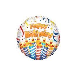 """100 Units of Mylar 18"""" VLU DS - Birthday Cake & Candles"""