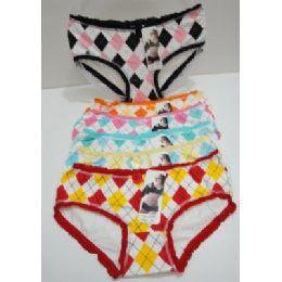 144 Units of Ladies Panties-Argyle - Womens Panties & Underwear