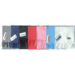 48 Units of Fleece Winter Scarf Solid Colors Assorted - Winter Scarves