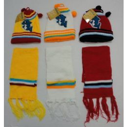 72 Units of Baby Knit Cap With ScarF--Dolphins - Junior / Kids Winter Hats