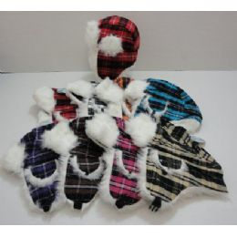 72 Units of Child's Bomber Hat--Plaid - Junior / Kids Winter Hats