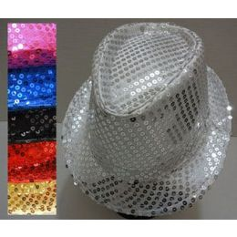 120 Units of Fedora Hat -Sequin - Fedoras, Driver Caps & Visor